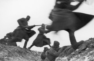 Soldiers Leaping Over Foxhole